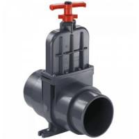 Задвижка шиберная ПВХ ДУ100 для канализационных установок MULTILIFT MSS, M, MD, MOG, MDG, MD1.80.80 Grundfos 96615831