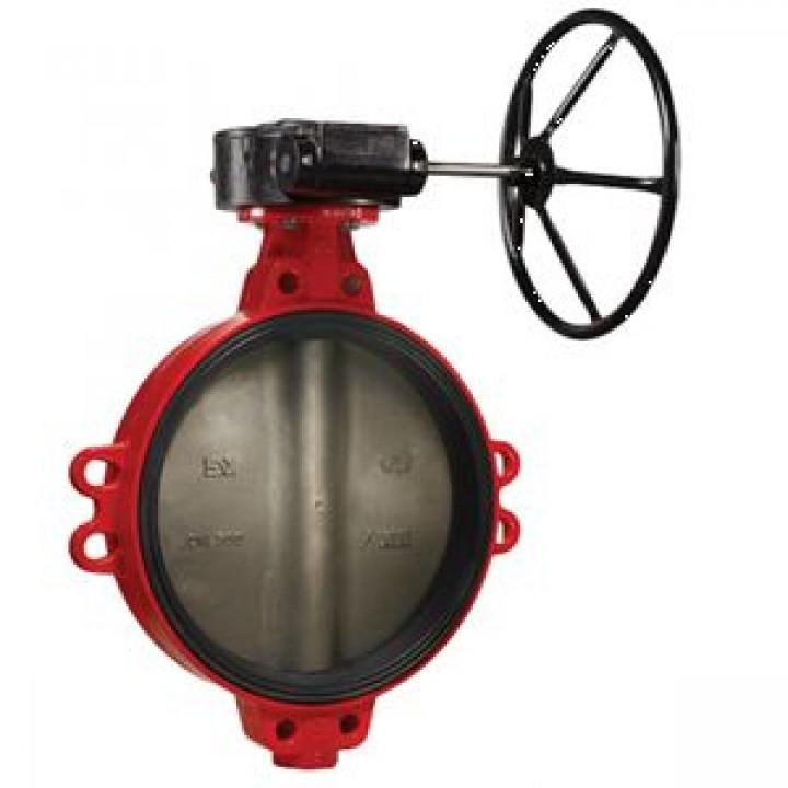 Затвор дисковый поворотный чугун ЗПВЛ Гранвэл Ду 50 Ру16 межфл с рукояткой диск нерж манжета EPDM FLN(w)-5-050-MN-Е ADLBD01A30812