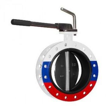 Затвор дисковый поворотный чугун ЗПСС Ду 200 Ру25 межфл с рукояткой диск сталь манжета EPDM FLN(W)-5-200-MR-E ADLBD01C383159