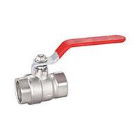 Кран шаровой латунь никель BS1143 Ду 40 Ру25 ВР полнопроходной рычаг TecofiBS1143-0040