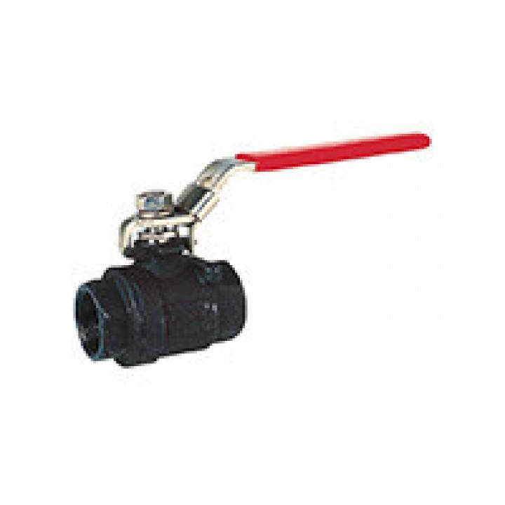 Кран шаровой полнопроходной, DN32, PN63, ручка, корпус сталь BS5179-0032