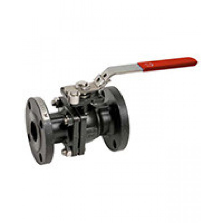Кран шаровой полнопроходной фланцевый, DN40, PN40, ручка, корпус углеродистая сталь BS5261-0040