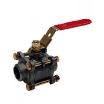 Кран шаровой полнопроходной стальной, DN15, PN64, ручка рычаг, корпус сталь BS5379BW-0015