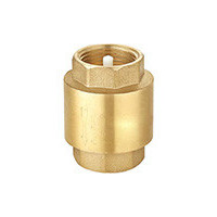 Клапан обратный латунь осевой CA1103 Ду 25 Ру16 Тмакс=100 оС ВР G1 диск нитрил-нейлон с BSP резьбой TecofiCA1103-0025