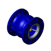 Клапан обратный чугун осевой CA3241 Ду 125 Ру16 Тмакс=100 оС фл диск чугун TecofiCA3241-0125