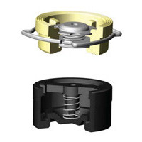 Клапан обратный латунь осевой CA7441 Ду 32 Ру16 Тмакс=120 оС межфл диск нерж TecofiCA7441-0032