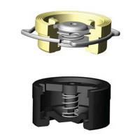 Клапан обратный латунь осевой CA7441 Ду 40 Ру16 Тмакс=120 оС межфл диск нерж TecofiCA7441-0040
