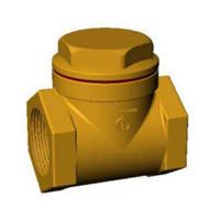 Клапан обратный створчатый, муфтовый, PN20, 1 1/4 ВР, бронза/латунь CB2143-0032
