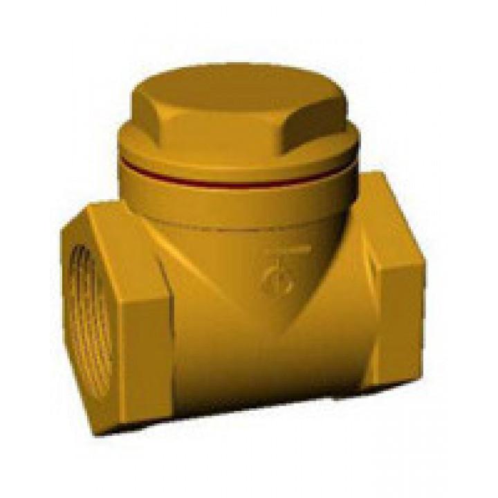 Клапан обратный створчатый, муфтовый, PN20, 1 1/2 ВР, бронза/латунь CB2143-0040