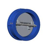 Клапан обратный двухстворчатый, межфланцевый, PN25, DN65, ковкий чугун CB4450-0065