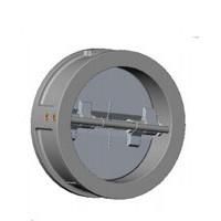 Клапан обратный двухстворчатый, межфланцевый, PN16, DN125, нержавеющая сталь CB6442-0125