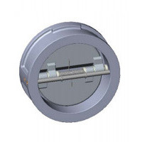 Клапан обратный двухстворчатый, межфланцевый, PN25, DN350, нержавеющая сталь CB6450-0350