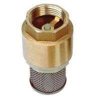 Клапан обратный латунь осевой CC1142 Ду 15 Ру16 Тмакс=100 оС ВР G1/2 диск с приемной сеткой TecofiCC1142-0015