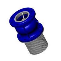 Клапан обратный осевой, донный, фланцевый, PN16, DN100, чугун CC3241-0100