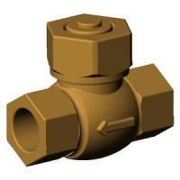 Клапан обратный бронза подъемный CS2142 Ду 40 Ру25 ВР G3/4 золотник TecofiCS2142-0040
