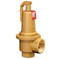 Клапан предохранительный пружинный латунь Prescor Ду15х15 ВР/ВР G1/2хG1/2 Рср=4бар 120С ADLDC02B414093