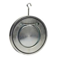 Клапан обратный сталь 1/створ Гранлок ЗОП Ду 100 Ру16 Тмакс=110 оС межфл с гальваническим покрытием тарелка сталь ЗОП.07.100 16 ADLDF01B21597