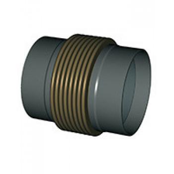 Гибкая вставка под приварку DI7350 из нержавеющей стали, Tecofi, Ду65 DI7350MVT25-0065