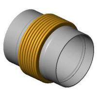 Гибкая вставка под приварку DI7350 из нержавеющей стали, Tecofi, Ду400 DI7350MVT25-0400
