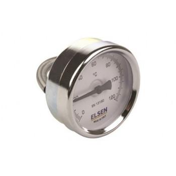 Термометр биметаллический, ?-63,накладной, T°C -от 0 до +120 ET63.00