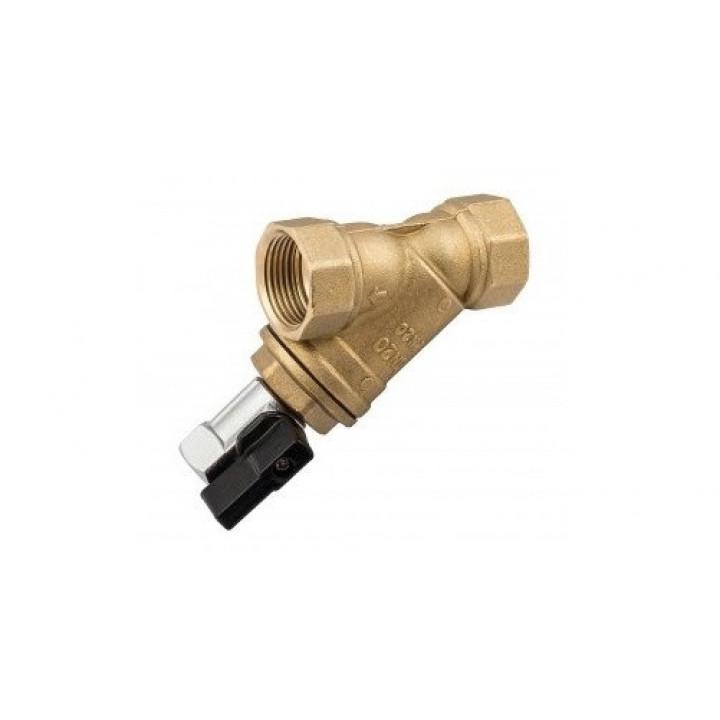 Фильтр механической очистки, DN-20, 3/4, В, латунь, с дренажным краном EV33.3434