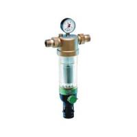 Фильтр сетчатый T-образный пластик Ду 20 Ру16 Тмакс=40 oC G3/4 НР F76S с обратной промывкой HoneywellF76S-3/4AA