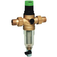 Фильтр сетчатый T-образный пластик Ду 25 Ру16 Тмакс=40 oC G1 НР FK06 с регулятором давления HoneywellFK06-1AA