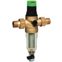 Фильтр сетчатый T-образный латунь Ду 25 Ру25 Тмакс=70 oC G1 НР FK06 с регулятором давления HoneywellFK06-1AAM