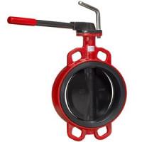 Затвор дисковый поворотный чугун ЗПТС Гранвэл Ду 125 Ру16 межфл с рукояткой диск чугун манжета EPDM HT ADLFLw-3-125-MN-HT