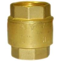 Клапан обратный латунь осевой NY 10.3 Ду 40 Ру16 Тмакс=90 оС ВР G1 1/2 диск сталь ADLHF01B453062