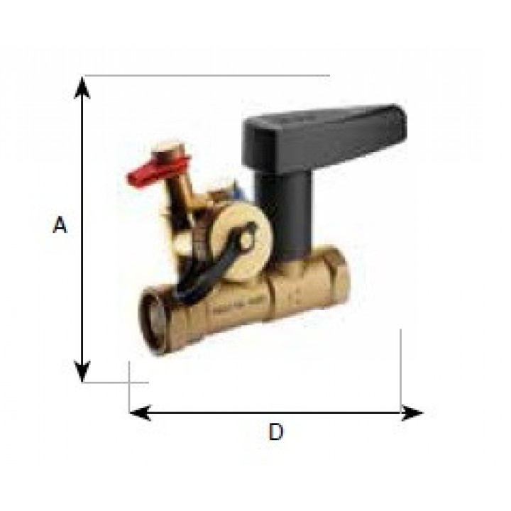 Балансировочный клапан Meibes, Nexus, внутренняя резьба с дренажем Ду15 MN80597.532