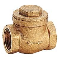 Клапан обратный латунь поворотный N6 Ду 15 Ру16 Тмакс=110 оС ВР G1/2 заслонка GiacominiN6Y003