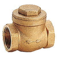 Клапан обратный латунь поворотный N6 Ду 65 Ру16 Тмакс=110 оС ВР G2 1/2 заслонка GiacominiN6Y009
