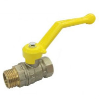 Шаровой латунный кран для газа ВР-НР, ручка-рычаг, LD Pride, Ду40, 25 бар Pride 47.40.В-Н.Р.GAS
