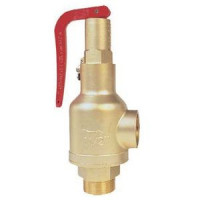 Клапан предохранительный пружинный латунь R140 Ду20х20 ВР/ВР G3/4хG3/4 Рср=5бар 110С GiacominiR140Y028