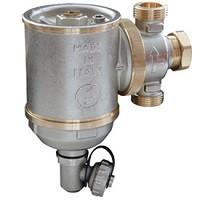 Фильтр магнитный сетчатый латунь Ду 25 Ру10 ВР R146 C шаровым краном, заглушкой для дренажа и клапаном выпуска воздуха GiacominiR146CX005
