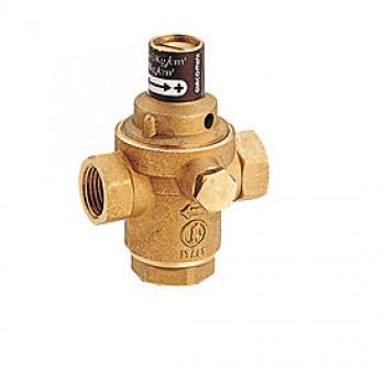 Клапан подпиточный поршневой латунь R150Y Ду 15 Ру10 G1/2 ВР Рн=0,5 - 3бар с вых. под маном. и обр. клап. GiacominiR150Y103