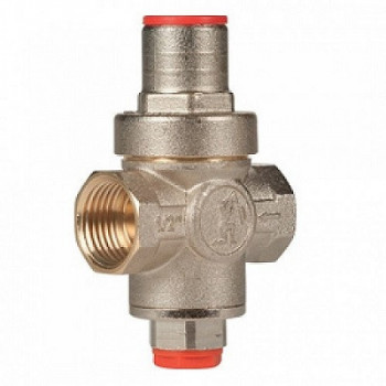Регулятор давления поршневой латунь R153C Ду 20 Ру16 G3/4 ВР Рн=1 - 5,5бар с вых. под маном. GiacominiR153CX004