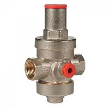 Регулятор давления поршневой латунь R153P Ду 40 Ру25 G1 1/2 ВР Рн=1 - 5,5бар с вых. под маном. GiacominiR153PX007
