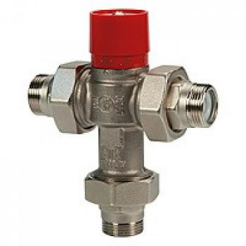 Клапан смесительный термостатический седельный латунь R156-1 Ду 25 Ру16 G1 НР Kvs=2 60С GiacominiR156X025