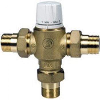 Клапан смесительный термостатический седельный латунь R156-2 Ду 20 Ру10 G3/4 НР Kvs=1.4 65С с защитой от ожога Giacomini. R156Y224