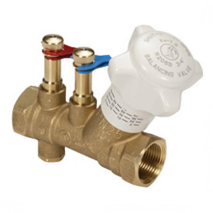 Балансировочный клапан р/р R206B, с дренажём, Giacomini, Ду25 R206BY005