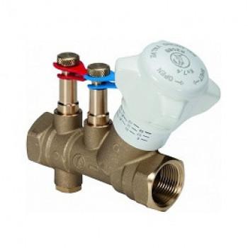 Балансировочный клапан р/р R206B, с дренажём, Giacomini, Ду20 R206BY014