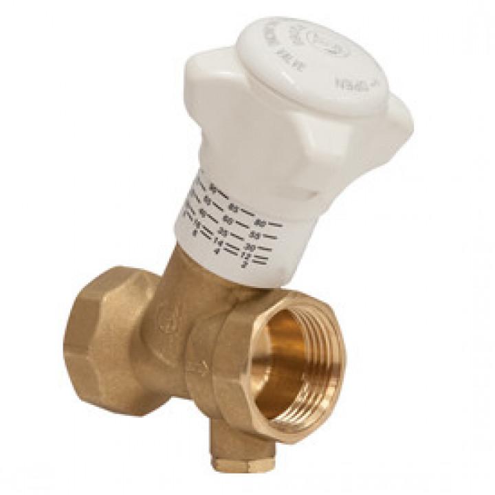 Балансировочный клапан р/р R206B-1 с дренажём, Giacomini, Ду20 R206BY114