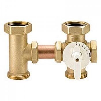 Клапан смесительный поворотный латунь R296 Ду 40 Ру16 G1 1/2 ВР/НР GiacominiR296Y001