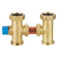 Трехходовой смесительный клапан с вентильным затвором с наружной и внутренней резьбой 3/4