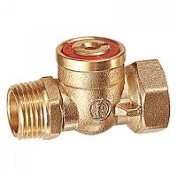 Кран шаровой латунь R609 Ду 15 Ру100 ВР/НР полнопроходной под отвёртку GiacominiR609Y013