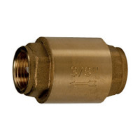 Клапан обратный латунь осевой R60 Ду 15 Ру16 Тмакс=110 оС ВР G1/2 диск нейлон шток пластик GiacominiR60Y003