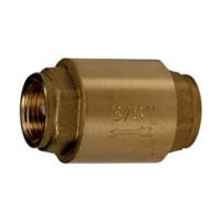 Клапан обратный латунь осевой R60 Ду 32 Ру10 Тмакс=110 оС ВР G1 1/4 диск нейлон шток пластик GiacominiR60Y006