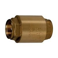 Клапан обратный латунь осевой R60 Ду 25 Ру35 Тмакс=110 оС ВР G1 диск металл GiacominiR60Y035